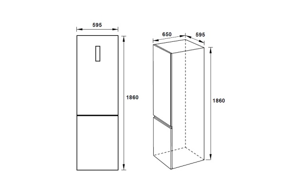 Tủ lạnh độc lập Hafele H-BF234