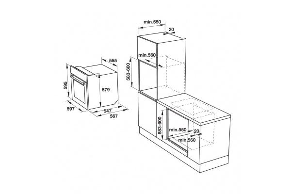 Lò nướng âm tủ Hafele HO-KT60F