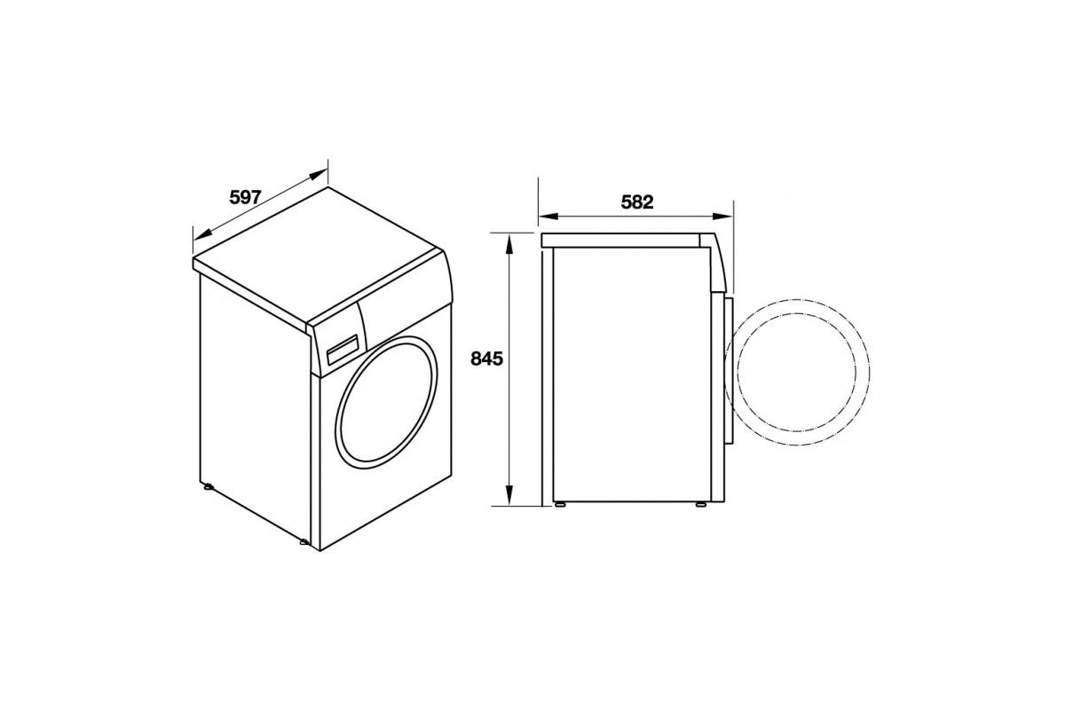 Máy giặt sấy kết hợp Hafele HWD-F60A