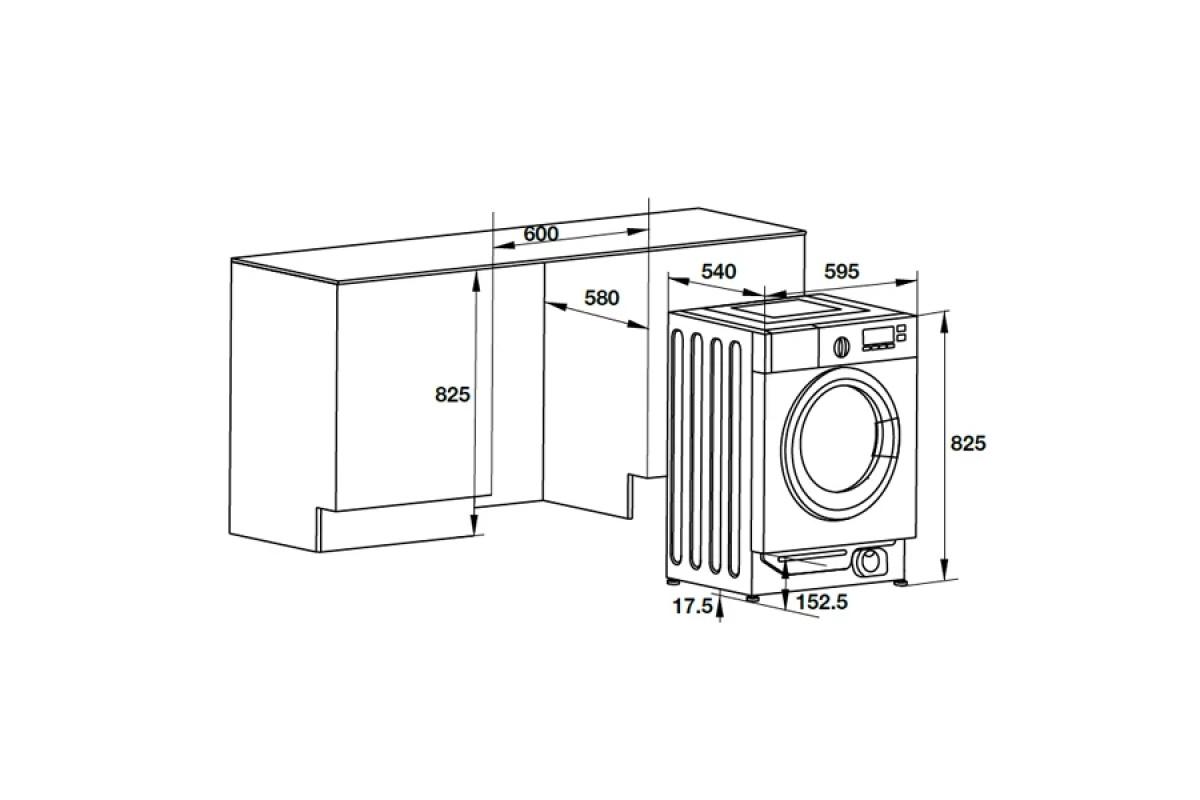 Máy giặt âm tủ Hafele HW-B60A 8Kg