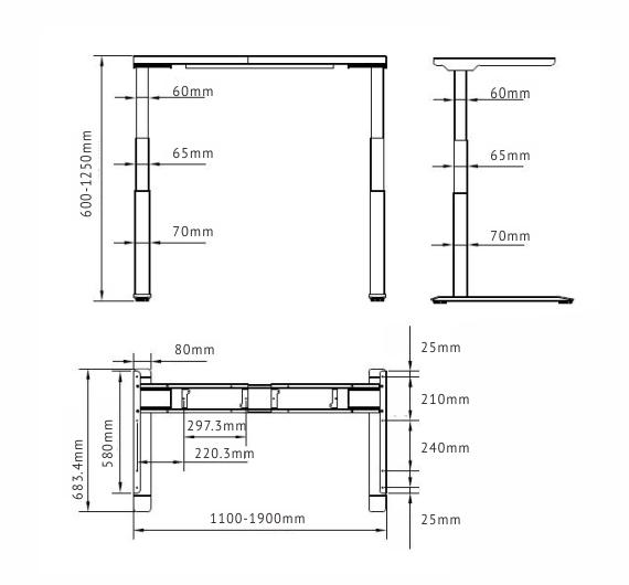 Smart Desk – Luxor Vecto ET223-BZ
