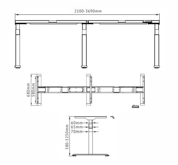 Smart Desk – Luxor Vecto ET2216