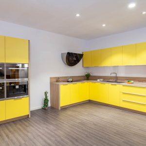 Tủ bếp Acrylic An Cường Tông Vàng -0919098886