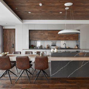 Tủ bếp acrylic an cường hiện đại -0919098886